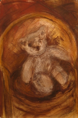 Un ourson attendait - pastel (2009 Premier Prix Club des Arts)