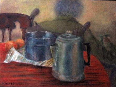 une dernière tasse de thé - huile